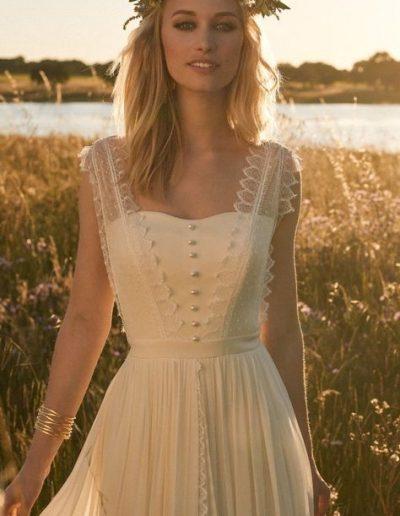 robe de mariée mousseline dentelle diva toulouse